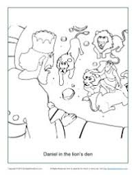 Small Picture in the Lions Den Coloring Page
