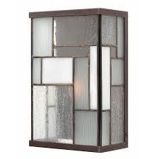 mondrian outdoor art glass wall light by hinkley lighting