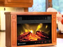 Portable Fireplace Heater  1500w Free Standing Electric Fireplace Infrared Fireplace Heater