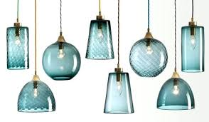 blown glass pendant lights hand canada made in usa for glow blue glass pendant lights