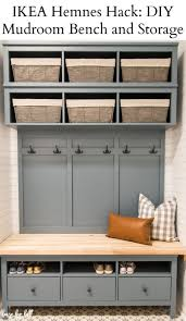 ikea hemnes diy mudroom bench and storage