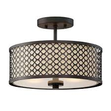 251 first nicollet rubbed bronze two light drum semi flush mount