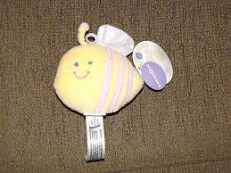 babies r us stuffed plush yellow pink blebee ble bee rattle toy lovey new