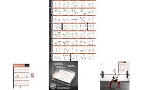 Barbell Workout Exercise Poster Laminated Home Gym Weight Lifting Chart Build Mu