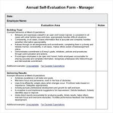 Free Basic Employee Self Evaluation Form From Management Template ...