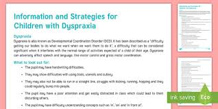 Dyspraxia Mind Map Resource For Teachers Primary Education