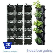 green wall hanging planter box diy herb