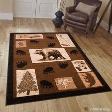 bear paw print rugs lovely allstar berber woven soft southwest bear paw print theme rug 7 7