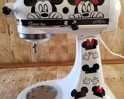 Mickey and Minnie mouse, gloves, fun, kitchen decor, stand mixer, laptop