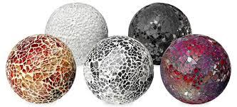 Decorative Sphere Balls MOSAIC GLASS DECORATIVE BALL GM60 Be Fabulous 18