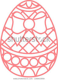 Easter Egg Template Stock Image Download Now