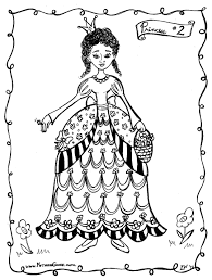 6 free Princess Coloring Pages, printable paper craft for girls ...