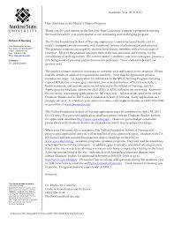 Letter Of Recommendation Nursing Graduate School Sample