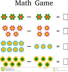 Mathematics Educational Game For Kids Stock Image