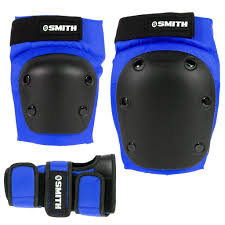 Smith Scabs 3 Pack Knee Elbow Wrist Pads Roller Derby