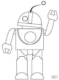 Robot Zegt Hoi Kleurplaat Gratis Kleurplaten Printen