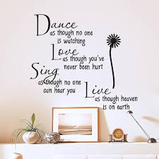 dance as though no one is watching love quote wall decals zooyoo removable pvc wall stickers home decor bedroom diy wall art in wall stickers from home  on wall art stickers love quotes with dance as though no one is watching love quote wall decals zooyoo