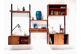danish teak cado wall modular shelving unit desk by poul cadovious heals 1960 s photo