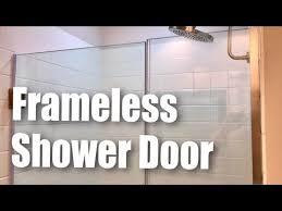 dreamline unidoor plus frameless hinged glass shower door brushed nickel finish review