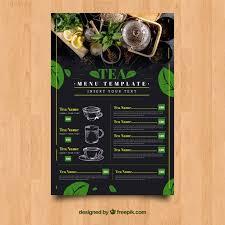 Free Tea Menu Template With Leaves Svg Dxf Eps Png Scan N