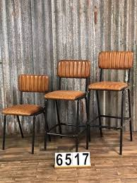 retro industrial vintage leather barstools 2 colors