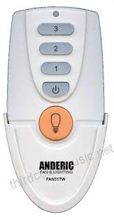 anderic replacement for fan51t remote with wall mount for hampton bay ceiling fans model