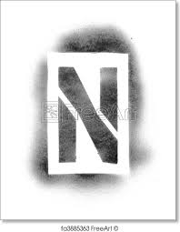 Stenciling Spray Paint Free Art Print Of Stencil Letters In Spray Paint Freeart Fa3885363