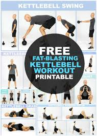 Free Kettlebell Workout Chart Pin On Stay Fit 40