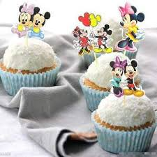 24pcs Mickey Minnie Mouse Cupcake Topper Picks Birthday Shop