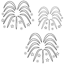 Small Picture Fireworks Coloring Page Independence Day