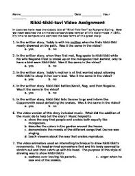 rikki tikki tavi video and literature activity by ela worth keeping rikki tikki tavi video and literature activity