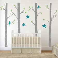 designs abstract white tree wall stickers for nursery with