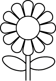 Flower Coloring Pages For Kindergarten