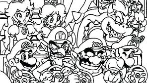 Coloring Pages Mario Mario Colouring Pages Wanderlive Co