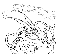 Legendary Pokemon Coloring Pages Mega Rayquaza Nazly Me For Vietti