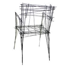 wire furniture. Jinil Park Materializes Drawing Furniture Series Using Wire 7
