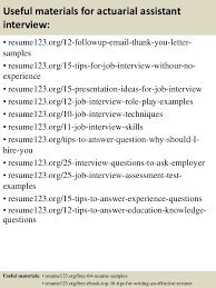 Actuary Resume Top 100 actuarial assistant resume samples 49