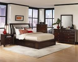 Bedroom: Stained Wooden Modern Bedroom Sets With Sleigh Bed   Modern Queen Bedroom  Set
