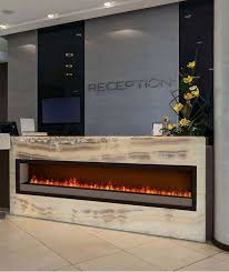 dimplex optimyst electric fireplace set into onyx gorgeous way to welcome corporate visitors