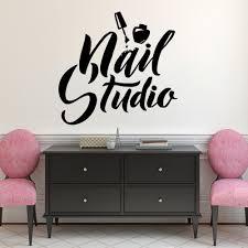 Nail Art Polish <b>Wall Sticker Beauty</b> Salon Decor Manicure Pedicure ...