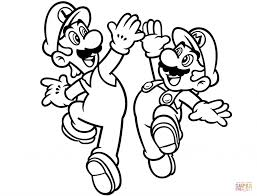 Coloring Pages Luigi And Mario Coloring Page Amazing Pages Super