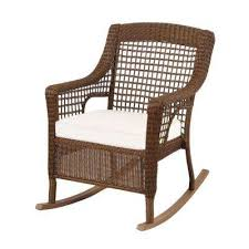 spring haven brown wicker outdoor patio rocking chair