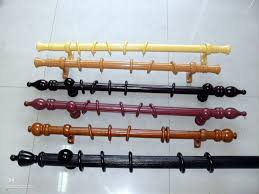wooden french door curtain rods