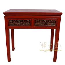 red entry table. Chinese Antique Carved Red Lacquered Zhejiang Entry Table 17LP32 Antiques O