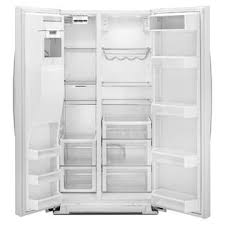 whirlpool side by side refrigerator white. whirlpool wrs965ciah 24.5 cu. ft. counter-depth side-by-side refrigerator w/ microedge™ shelves - white ice side by