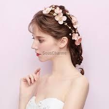 Coiffure Pour Mariage Cheveux Long Tresse à Fleurs Rose