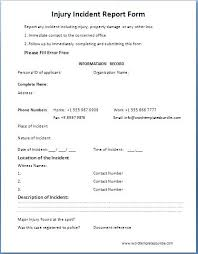 Customer Incident Report Form Template Templates In Word Free