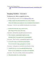 dangling modifiers linguistic typology semantic units