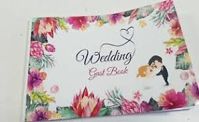 Dettagli Su Wedding Guest Book Guest Registry Guest Sign In Book Guestbook