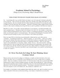 Resume Examples For Psychology Majors Writing personal statements for grad school psychology School 42